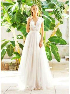 Elegantní výstřih Tyl Svatební Svatební šaty