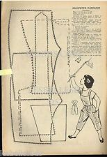 Doc/Clipping (Ref Rim 75) 07/1955 : PATRON POUPEE SALOPETTE 1page