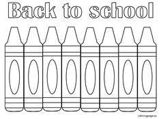 Back to School Coloring Pages School colors School and Child