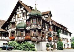 Drachenburg und Waaghaus hotel Gottlieben on the Bodensee Winterthur, Zermatt, Best Of Switzerland, Alps Switzerland, Beautiful Buildings, Beautiful Places, Places Around The World, Around The Worlds, Berne