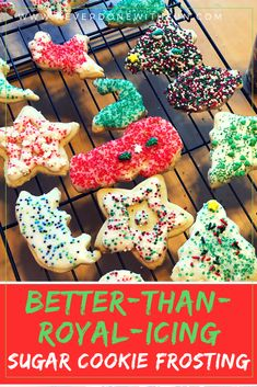 Better-Than-Royal Icing Frosting for Sugar Cookies: The Best Recipe that Tastes . Better-Than-Royal Icing Frosting for Sugar Cookies: The Best Recipe that Tastes Good and Hardens Sm Homemade Frosting, Icing Frosting, Frosting Recipes, Cake Icing, Soft Sugar Cookies, Sugar Cookies Recipe, Drop Cookies, Cookie Recipes, Cookie Icing That Hardens