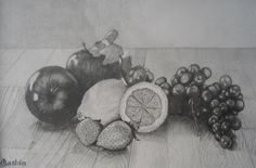 Preliminary Drawing for Still Life. Pencil drawing on illustration board, 8 X Not for sale. - by Julius A. Be Still, Still Life, Pencil Drawings, Art Drawings, High School Drawing, Gaston, Drawing Board, Art Education, Food Art