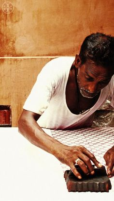 Block printing: the ancient art of hand block printing has been passed down from generation to generation