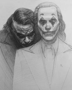 Joker Vs Joker # рисунок - Batman etc Joker Sketch, Joker Drawings, Pencil Art Drawings, Realistic Drawings, Art Drawings Sketches, Sketch Drawing, Drawing Art, Joker Pencil Drawing, Drawing Designs