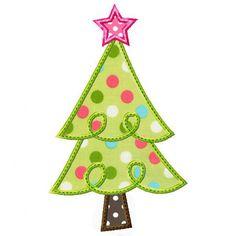 Scalloped Tree Applique - embroidery-boutique.com