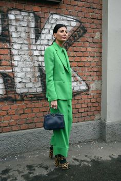 Giovanna Battaglia at Milan Fashion Week: Photo: Youngjun Koo for The Cut