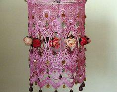 Anat Bon van handgemaakte Lamp  prachtige rozentuin Fantasy