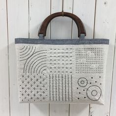 The Beauty of Japanese Embroidery - Embroidery Patterns Embroidery Bags, Japanese Embroidery, Patchwork Bags, Quilted Bag, Shashiko Embroidery, Boro Stitching, Japanese Quilts, Craft Bags, Denim Bag
