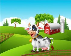 Cartoon cow with farm vectors 02 - https://www.welovesolo.com/cartoon-cow-with-farm-vectors-02/?utm_source=PN&utm_medium=welovesolo59%40gmail.com&utm_campaign=SNAP%2Bfrom%2BWeLoveSoLo