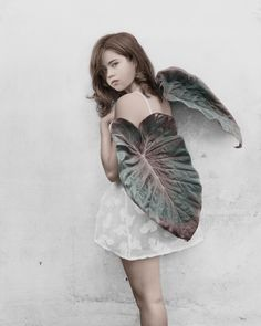 Leaf wings. ~ETS Photo by Vee Speers. #portrait #photography