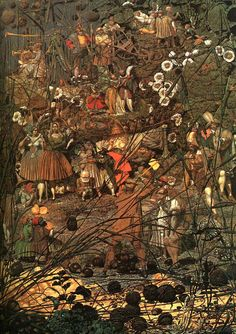 """The Fairy Fellers Masterstroke"".  Richard Dadd 1817-1866."