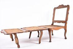 XVIIIe siècle - Rare fauteuil à système formant lit, époque Louis XV