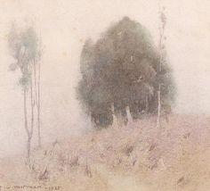 John William Tristram(Australian, 1872-1938) Morning Mist 1935 Watercolour
