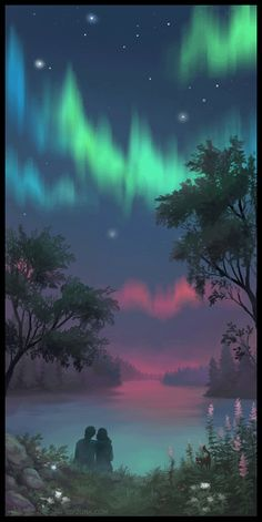 everyday a different color, beautiful gifs, soft goth, nature. images that I like and attract my attention. I hope you'll find images here for your taste too. Sky Gif, Gif Animé, Animated Gif, Gifs, Aurora Borealis, Couple Romance, Tumblr, Fantasy Landscape, Fantasy World