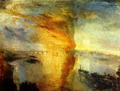 J.M.W.Turner(1775ー1851)「El incendio del Parlamento, 16 de octubre de 1834」(1835)