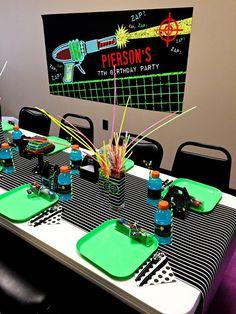 Boys Laser Tag Birthday Party Dining Table Ideas