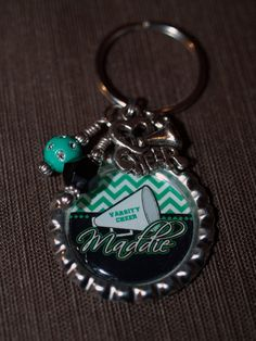 Personalized Cheer Bottle Cap Key Ring  FABULOUS by pixelilicious, $9.00