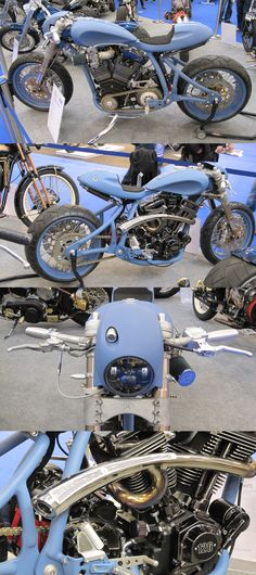 Blue Beauty, Modified WS called Zt... #amdworldcustomchampionship Essen #caferacer http://caferacer-manufacture.com/pl/galerie/