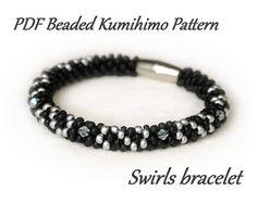 PDF TUTORIAL - Kumihimo Beaded Cuff Bracelet by RShermanDesigns