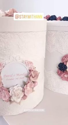 Card Box Wedding from StayWithAnn Available to order on the website STAYWITHANN.COM Money Box Wedding, Card Box Wedding, Diy Wedding, Pink Christmas Decorations, Christmas Crafts To Make, Wedding Decorations, Winter Wonderland Wedding, Personalized Wedding, Trousseau Packing
