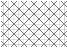 There are twelve black dots at the intersections in this image. Your brain won't let you see them all at once.