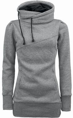 Grey Comfy Hooded Sweatshirt. #comfy