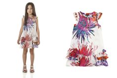 @robertocavalli Junior Spring Summer 2014, Tropical Flowers dress #robertocavalli #robertocavallijunior #springsummer2014 #SS14 #children #kids #childrenwear #kidswear #girls