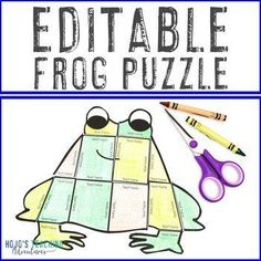 EDITABLE Frog Puzzles | Make your own Leap Year 2020 Activities |  1st, 2nd, 3rd, 4th, 5th, 7th, 8th grade, Activities, English Language Arts, Fun Stuff, Games, Homeschool, Math, Middle School, Science