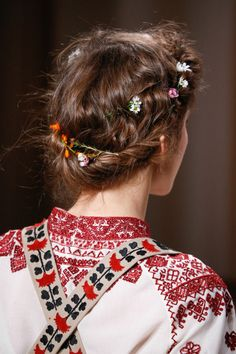 Flower-braided crowns at Valentino spring 2015 couture.