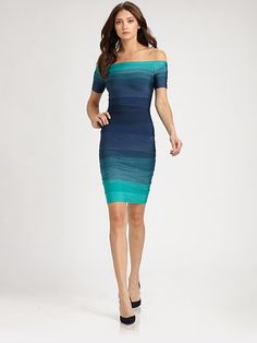herve leger- each shade of blue is so calming
