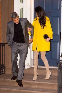 Amal Clooney, George Clooney, Amal Alamuddin Style, Human Rights Lawyer, Date Night Dresses, Fashion Photo, Stylish Outfits, Normcore, Womens Fashion