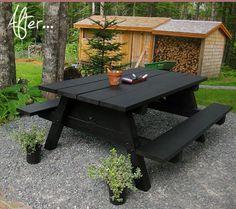 Chalkboard picnic table.