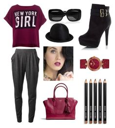 """NY Girl"" by fa-fa-fashionn ❤ liked on Polyvore featuring MICHAEL Michael Kors, Pull&Bear, Coach, Bottega Veneta, Ann Demeulemeester, Versace, Bobbi Brown Cosmetics and COVERGIRL"
