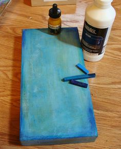 Diane Salter - A New Step-by-Step Tutorial for 2015 including the use of Gelli painted papers!  Next,  for  my  background--  I  got  out  my  inktense  blocks--these  are  great--a  very  intense  watercolor  stick,  but  I  used  gesso  (any  gesso,  it  doesn't  matter)  instead  of  water--I  like  the  effect  that  you  get  when  you  use  the  gesso.    Also  a  little  acrylic  ink  here  and  there--this  was  the  first  layer.