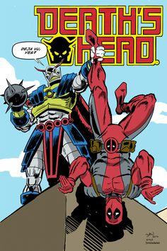 Death's Head vs Deadpool by Soulman-Inc.deviantart.com on @deviantART