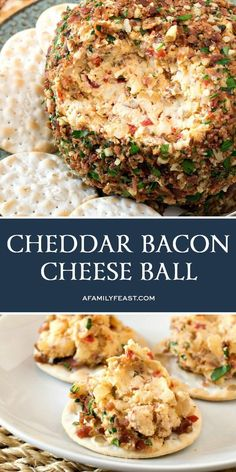 Everyone should have a great Cheddar Bacon Cheese Ball recipe in their recipe collection…this is IT! Bacon Appetizers, Appetizer Recipes, Snack Recipes, Dinner Recipes, Cooking Recipes, Healthy Recipes, Bacon Recipes, Cheesy Recipes, Appetizer Ideas