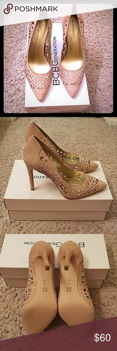BNIB BCBG HARRAH KID SUEDE These are too narrow for my wide feet, but I