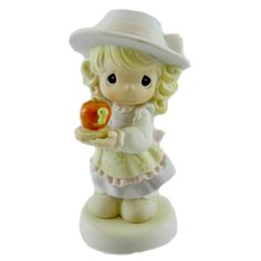 Precious Moments You Are The Apple Of My Eye Figurine Height: 5.25 Inches Material: Porcelain Type: Figurine Brand: Precious Moments Item Number: Precious Moments 115915 Catalog ID: 13488 New With Box
