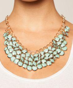 Sharlene Bib Statement Necklace in Turquoise