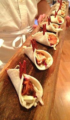Mini Salmon Tacos with Chipotle Slaw