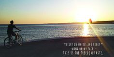 Light on wheels and heart. Wind on my face  -  this is the freedom taste. #bicycle #lisbon #sunset #freedom