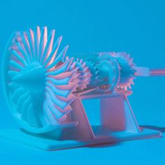 3D print a cutaway model jet engine with a template from @generalelectric. (animated)
