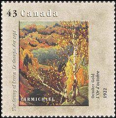 Canada 1995. Group of Seven. Realism/Naturalism. Franklin Carmichael. October Gold.