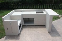 diy built in grill island Build Outdoor Kitchen, Outdoor Kitchen Design, Outdoor Kitchens, Grill Island, Built In Grill, Built In Outdoor Grill, Outdoor Furniture Sets, Outdoor Decor, Drywall