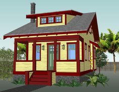 Here Are 7 Free DIY Woodworking Plans for Building a Tiny House: The Small House Catalog's 16x30 Free Tiny House Plan