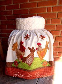 Capa para botijão de gás de galinhas