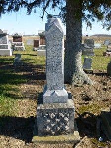 Jacob Edward Hiller, Kessler Cemetery, Liberty Township, Mercer County, Ohio. (2015 photo by Karen) #genealogy
