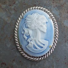 Shadowed Dead Lady Cameo Brooch // Goth, Victorian, Funny - Gift for Women, Teens - Gift Wrap Available