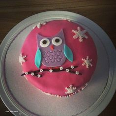 Owl Cake Source by sheylarodriguez Owl Cakes, Cupcake Cakes, Baby Food Recipes, Cooking Recipes, Funny Cake, Cake & Co, Cool Birthday Cakes, Sweet Cakes, Cake Pops