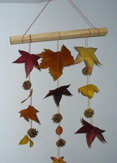 """Voici ce que nous avons fabriqué ces jours-ci ma puce et moi, dans un esprit """"automne"""" totalement raccord avec le temps ici (pluie... pluie...."""